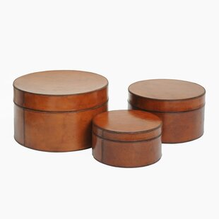 Check Prices Coventry Round Nested 3 Piece Wood Box Set (Set of 3) By Loon Peak