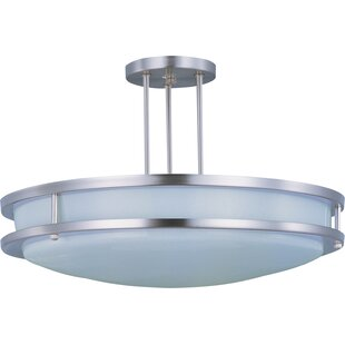 Steve 2-Light Semi-Flush Mount by Latitude Run