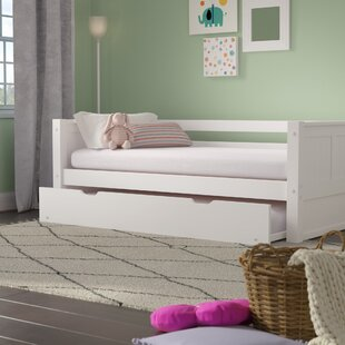 Burkley Twin Panel Bed with Trundle