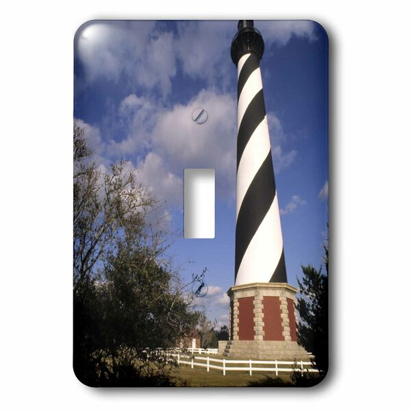 Cape Hatteras Lighthouse, North Carolina 1-Gang Toggle Light Switch Wall Plate by 3dRose