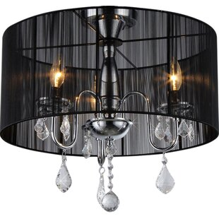 Best Reviews Rory 3-Light Chandelier By Warehouse of Tiffany