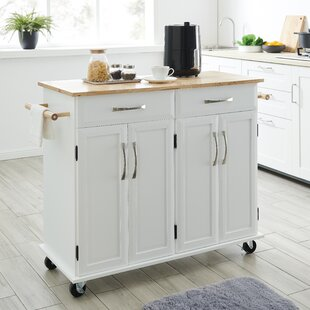 Scurry Storage Kitchen Cart Red Barrel Studio
