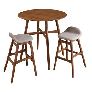 Tammy Mid Century 3 Piece Pub Table Set by Corrigan Studio
