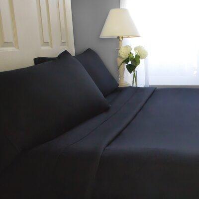 Sheet Set Cozy Bed Size: Full, Color: Black