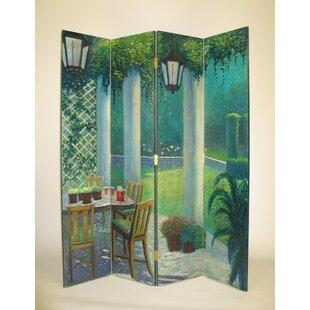 Hershberger Porch Scene 4 Panel Room Divider by Red Barrel Studio