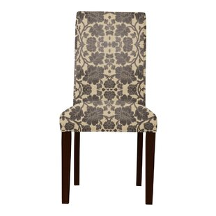 Red Barrel Studio Lattimore Beige/Brown Upholstered Parsons Chair (Set of 2)