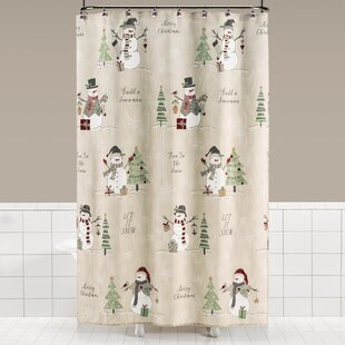Braxton Snowman Shower Curtain