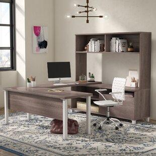 Mercury Row Ariana 4 Piece U-Shape Desk Office Suite