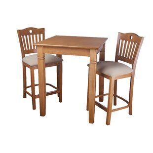 Eakes 3 Piece Pub Table Set by..