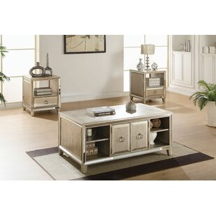 Andrew Home Studio Leanora 3 Piece Coffee Table Set