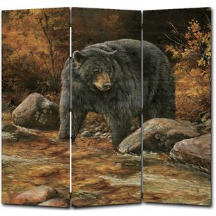 WGI-GALLERY Streamside Bear 3 Panel Room Divider