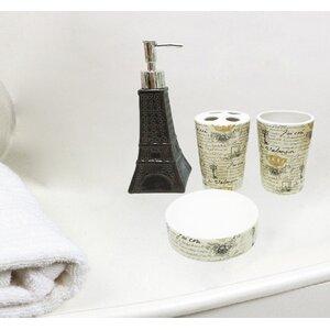 McDonough Paris Eiffel Tower 4 Piece Bathroom Accessory Set