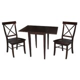 Colwell 3 Piece Drop Leaf Solid Wood Dining Set by Winston Porter