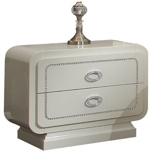 Hassan 2 Drawer Nightstand by Rosdorf Park