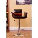 Gladstone Swivel Adjustable Height Bar Stool by Orren Ellis
