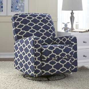 Best Price Charleen Trellis Reclining Swivel Glider By Harriet Bee