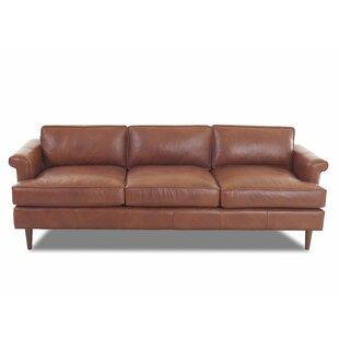 Carson Studio Leather Sofa by Wayfair Custom Upholstery™