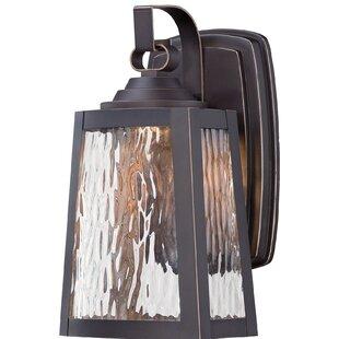 Read Reviews Vaughn 1-Light Outdoor Wall Lantern By Breakwater Bay