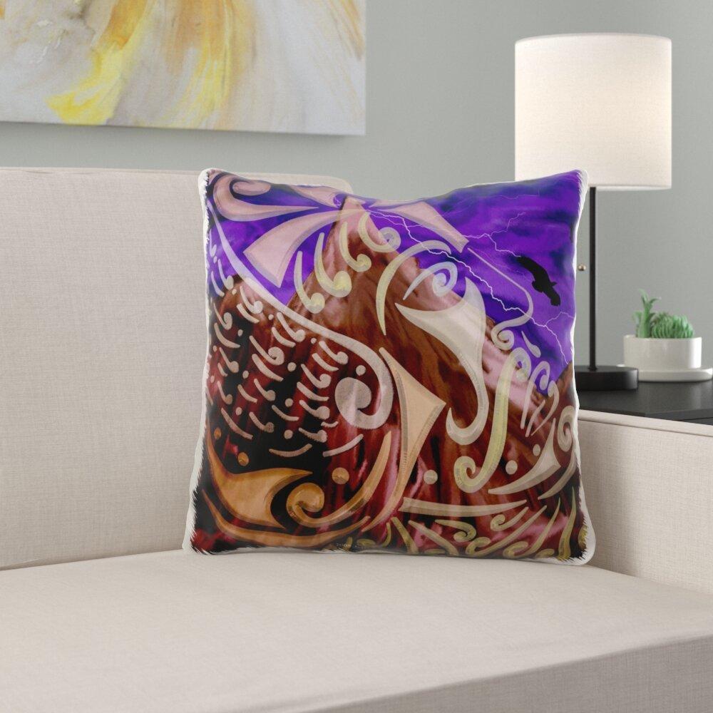 East Urban Home Merryman Thor Mythology Tribal Abstract Norse Pagan Asatru Pillow Cover Wayfair