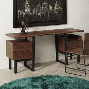 Union Rustic Sonnier Two Drawer Writing Desk