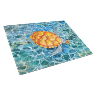 Under Water Glass Sea Turtle Cutting Board