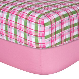 Price Check Solid Plaid Flannel Fitted Crib Sheet Set (Set of 2) ByTrend Lab