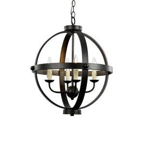 Old World Sphere 4-Light Globe Pendant