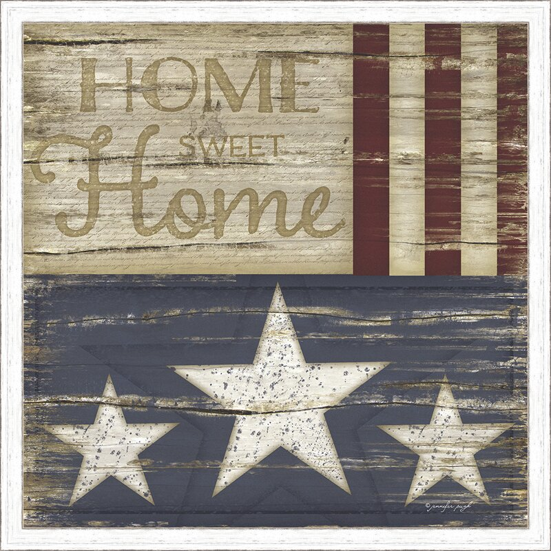 Trends Home Sweet Home Framed Textual Art