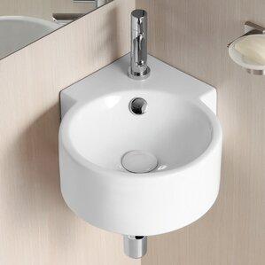 corner sink bathroom. Caracalla Corner Bathroom Sinks You ll Love  Wayfair