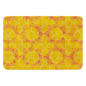 Jaipur Saffron by Patternmuse Bath Mat