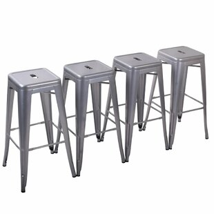 Aron 26 Metal Bar Stools (Set of 4) 17 Stories