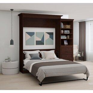Brayden Studio Burris Wall Murphy Bed with 3-Drawer Storage Unit