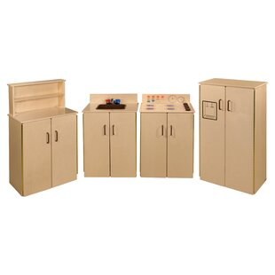 4 Piece School Age Kitchen Set by Wood Designs
