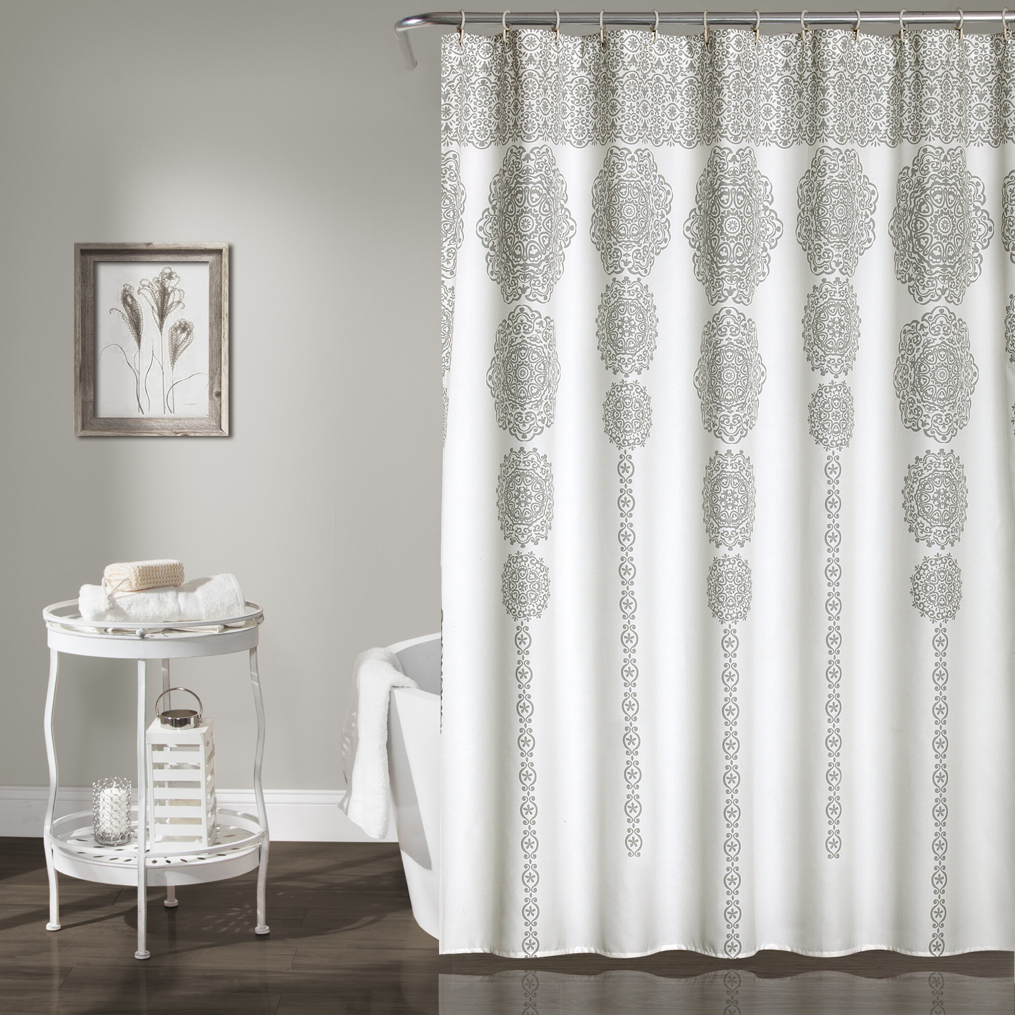 Bremond Geometric Single Shower Curtain Reviews Allmodern