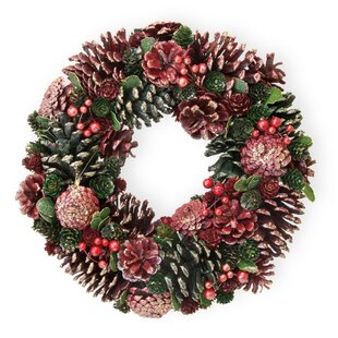 pinecone glitter 13 wreath by the holiday aisle