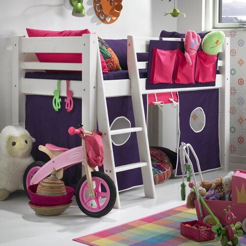 Hochbett Lonnie  70 x 160 cm | Kinderzimmer > Kinderbetten > Hochbetten | Weiß lasiert | Kiefernholz - Lackiert - Holz | Harriet Bee