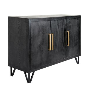 Bargain Dowland Wood and Metal Rectangular 3 Door Accent Cabinet By Ivy Bronx