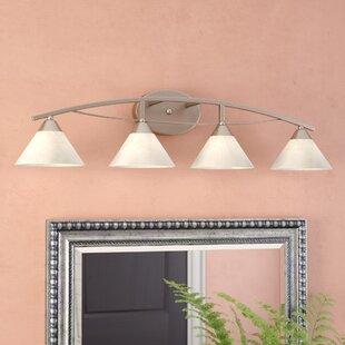 World Menagerie Beecroft 4-Light Glass Shade Vanity Light