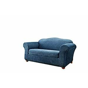 Stretch Stripe Box Cushion Sofa Slipcover by Sure Fit