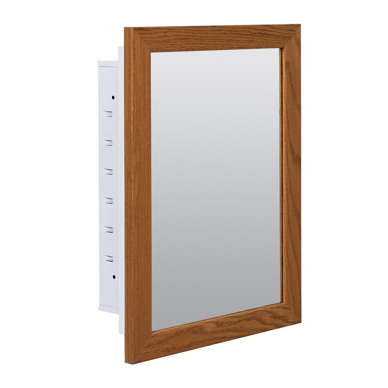 Charlton Home Brennan Surface Mount Framed Medicine Cabinet With 4 Adjustable Shelves Reviews Wayfair