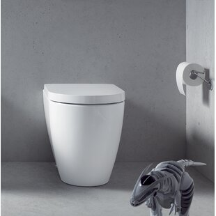 Duravit Me by Starck 1.28 GPF (Water Efficient) Elongated Wall Mounted Toilet (Seat Not Included)