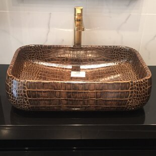 Moda Ceramic Rectangular Vessel Bathroom Sink ByMaestro Bath