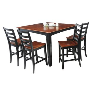 Palm Springs 5 Piece Counter Height Solid Wood Dining Set