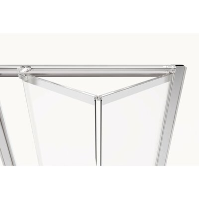 "Basco Infinity Bifold 37"" x 67"" Folding Semi-Frameless Shower Door  Finish: Brushed Nickel, Glass Type: Clear"