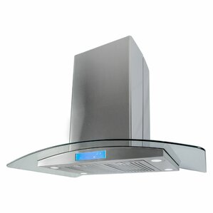 Kitchen Island Ventilation range hoods you'll love | wayfair