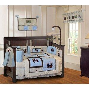Train 10 Piece Crib Bedding Set
