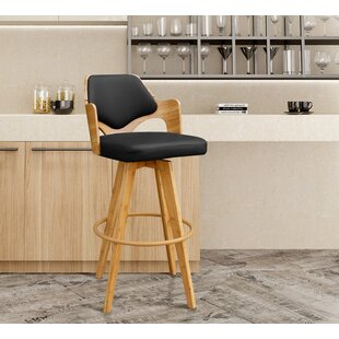 Westman 39.5 Swivel Bar Stool Brayden Studio