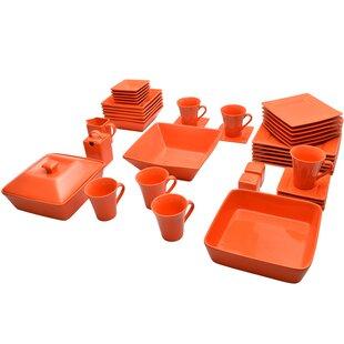 Orange Dinnerware Sets You\'ll Love   Wayfair