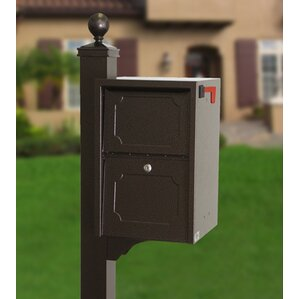 locking post mounted mailbox - Locking Mailboxes