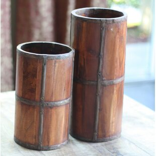 Loon Peak Alcorn Rustic Wood Umbrella Stand